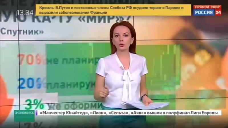 Новости на Россия 24 • Мир вам, бюджетники и пенсионеры: Дума приняла закон о переходе на эти карты