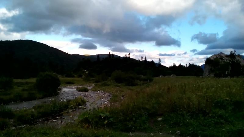 Вечер в палаточном городке Фишт