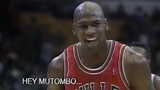 Michael Jordan eyes closed free throw