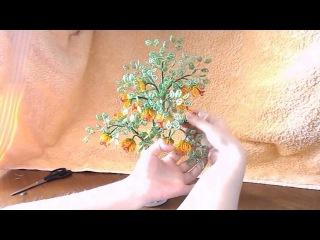 Оформление дерева из бисера (завершающий мастер класс) № 15