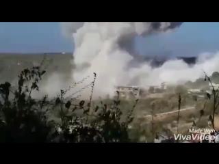 Russian Air forces strike on HTS sites in Jiser Al-Shugour .. idlib - 692018