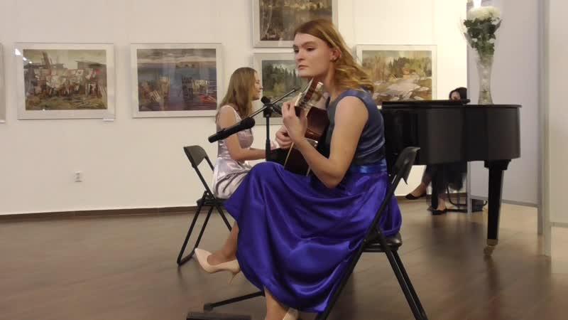 17 02 2019 Курган Художественныи музеи Метелева Анастасия играет на гитаре и поёт