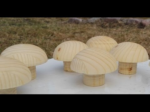 How to make wooden knobs The hard way