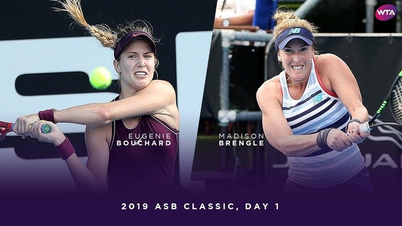 Eugenie Bouchard vs. Madison Brengle   2019 ASB Classic Day 1   WTA Highlights
