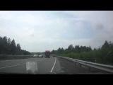 Авто приколы: комментатор жжет.  Отлетело колесо у внедорожника  ДТП и аварии