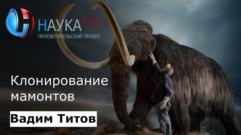Клонирование мамонтов | Cloning of mammoths - Вадим Титов