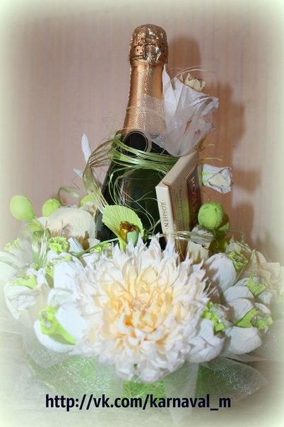 Хризантема из гофрированной бумаги  Автор: Анна Гасанова