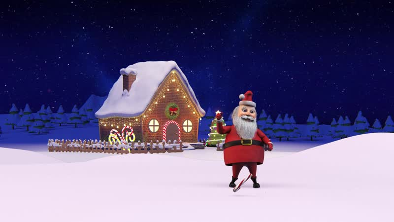 Merry Christmas and Happy New Year 2019 width Santa Claus