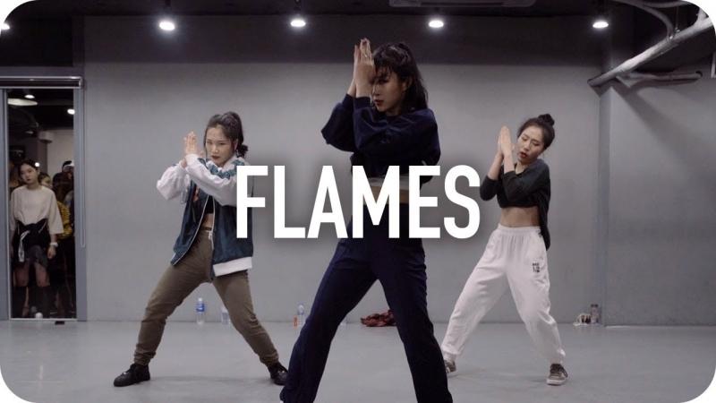 1Million dance studio Flames - David Guetta Sia Jin Lee Choreography