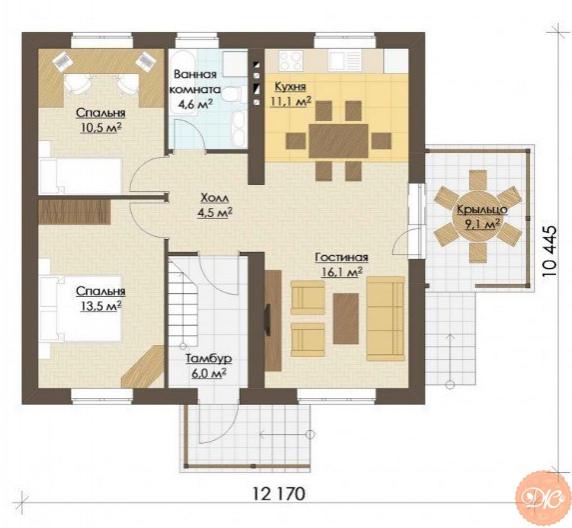 Дом площадью 134 м2