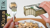EATING MONEY!! KLUNATIK ASMR eating sounds no talk comiendo dinero,