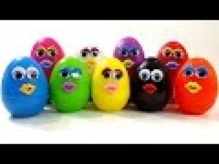 Play & Learn Colours with Surprise Eggs Dippin Dots Talk Animation Teletubbies Venom Mickey Mouse