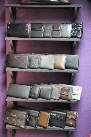 мужские портмоне на молнии из натуральной кожи