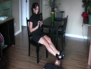 Goddess Pathi footstool trample barefoot