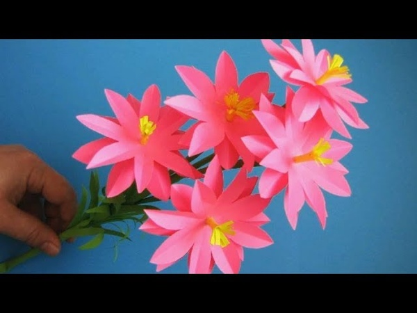 Paper Flower Stick DIY Paper Craft Handcraft 21