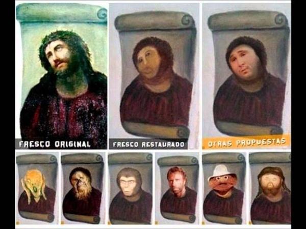 Cecilia Giménez - Ecce Homo - Pintura desfigurada, é alvo de paródia !