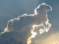 """Предпросмотр - Схема вышивки  """"облака,белогривая лошадка """" - Схемы вышивки - yuka1876 - Авторы - Портал  """"Вышивка..."""