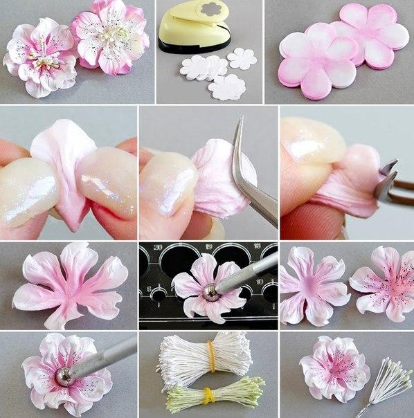 Делаем своими руками маленькие цветочки 19
