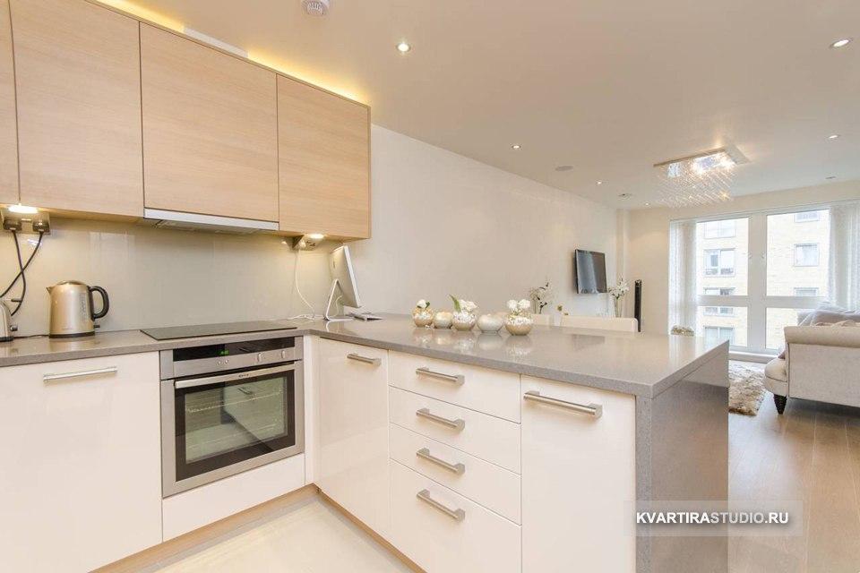 Раздвижные перегородки для зонирования квартиры 42 м в Лондоне / Великобритания - http://kvartirastudio.