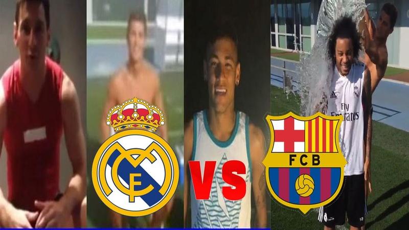 Ice Bucket Challenge • Real Madrid Vs Barca • 2014 HD