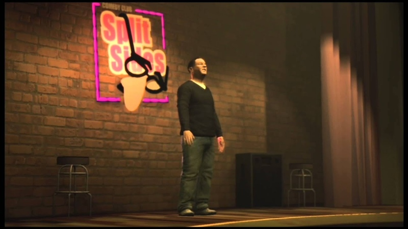 GTA IV Ricky Gervais Stand Act from Liberty city Split Sides Comedy Club