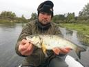 Осенний голавль на перекате Ловля щуки на реке в сильный ветер