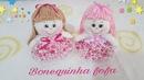 Aprenda a fazer uma linda bonequinha sem máquina feita a mão Artesanato, decoração com Cris Pinheiro