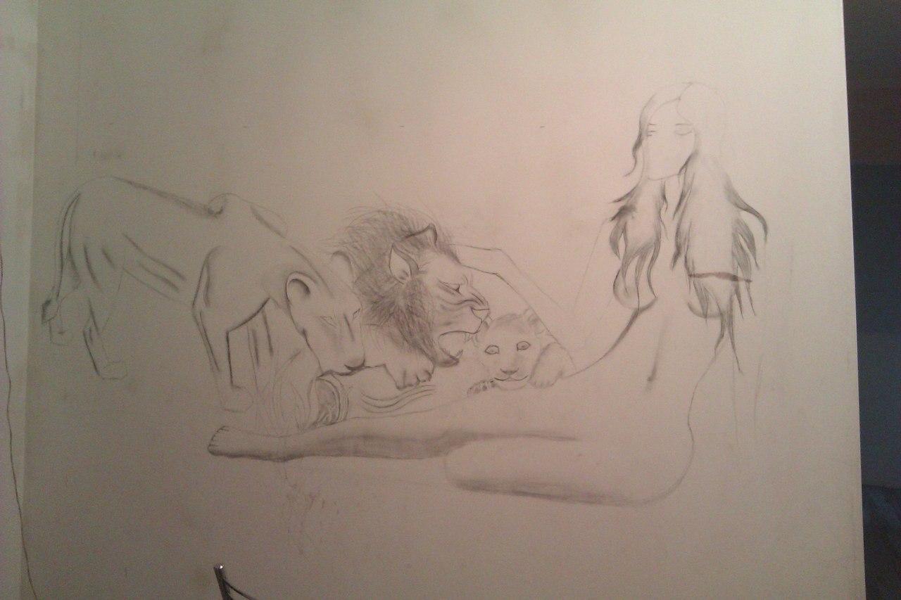 Девушка со львами
