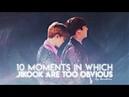 Top 10 moments in which jikook are too obvious ↠ ❝jikook/kookmin❞