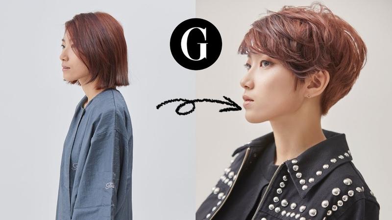 [그라피TV] 두상에 밀착되는 랩스타일의 커트. Asian hairstyle Korean womans shortcut tutorial