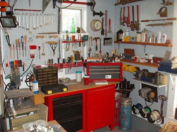 Эффективное использование места для мастерской или гаража #DIY_Идеи