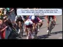 Slow Motion crash Cavendish resulting in Disqualification Sagan
