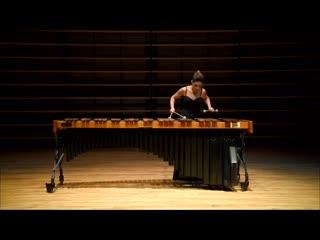 J.s. bach - allemande from suite bwv 996, anne-julie caron - marimba.