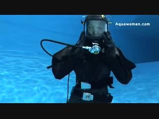 Navy Frogwoman Underwater