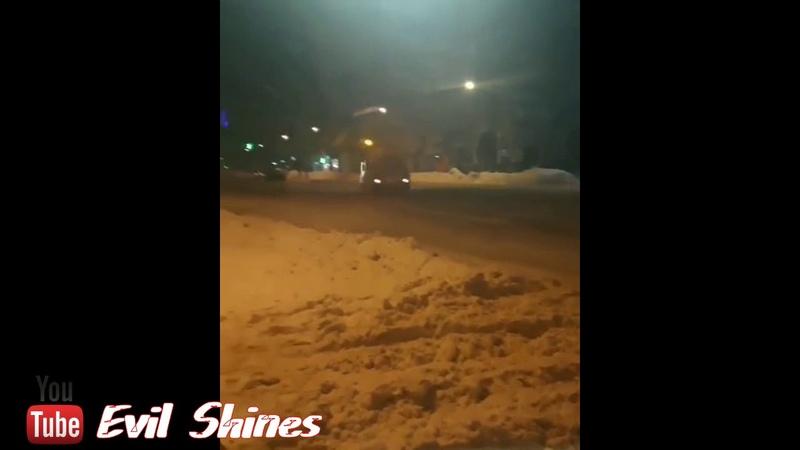 дрифт от снегоуборочной машины