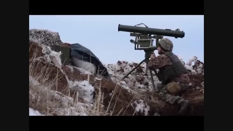 Робота ПТРК Корсар в зоні проведення військової операції на Донбасі
