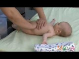 Массаж животика ребенка при коликах.