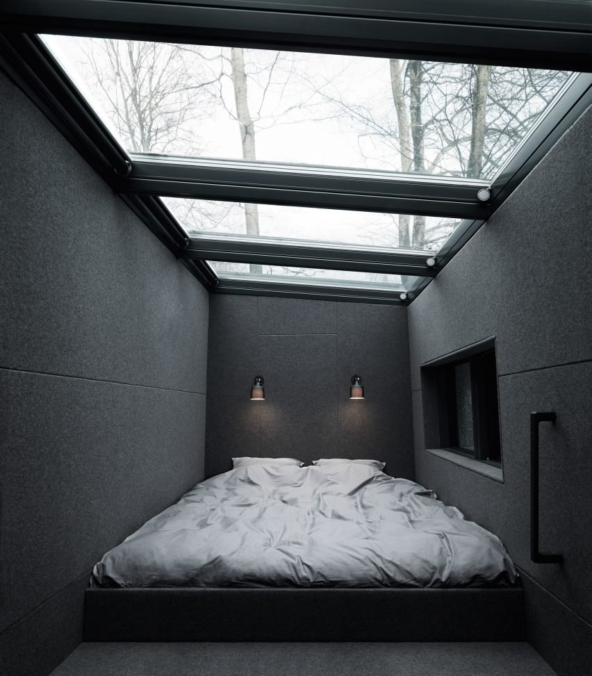 """LchZ90gH 34 - Vipp prefabricated cabins designed as """"battery-charging stations for humans"""""""