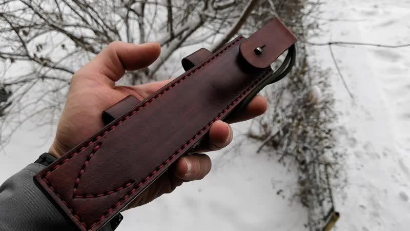 ножны для горизонтального ношения ножа, с возможностью ношения вертикально на поясе