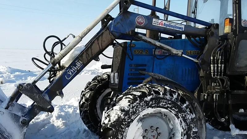 Чистят дорогу от снега на Карамырзу и Кошевое (Молодежное) / Зима 2019 Карасуский район