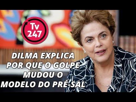 Dilma explica como era o modelo do pré-sal antes e depois do golpe