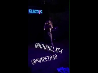 Charli XCX introducing Kim Petras at V Magazine