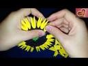 Hướng dẫn xếp hoa hướng dương 3d origami- 3d origami sunflower