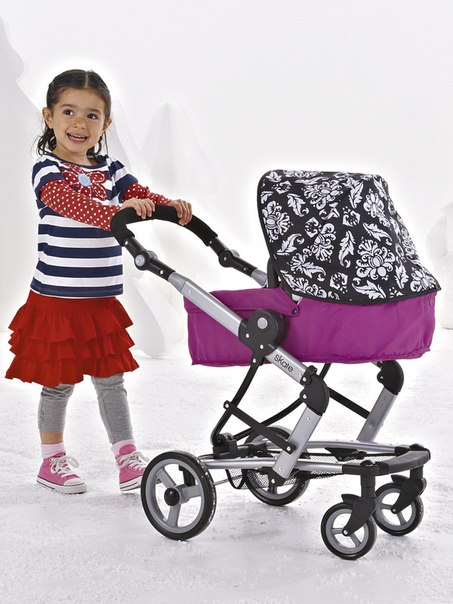 коляска для кукол bino с сумкой
