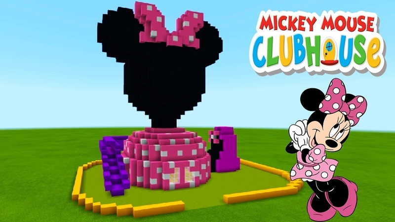 Minecraft Tutorial: How To Make a Minnie Mouse Clubhouse House Mickey Mouse Clubhouse
