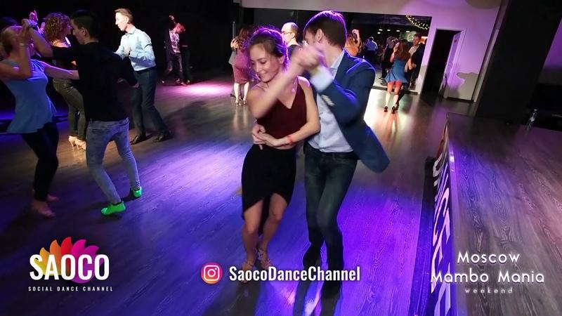 Vlad Kuzmin and Natasha Chumakova Salsa Dancing at Moscow MamboMania weekend, Saturday 27.10.2018