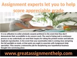 Maintain full Excellency in homework record with assignment help team