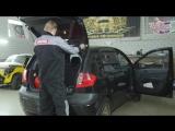 Hyundai Getz Установка четырех камерного регистратора