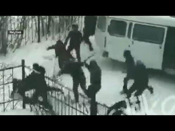 Избиения мигрантов после изнасилования киргизом молодой женщины в Якутске (2019)