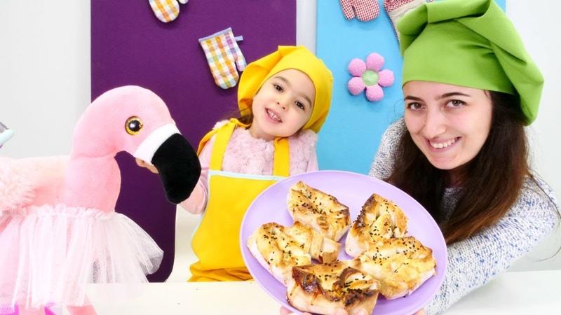 Sevcan ile flamingo için Mini Mutfakta gül böreği yapıyoruz